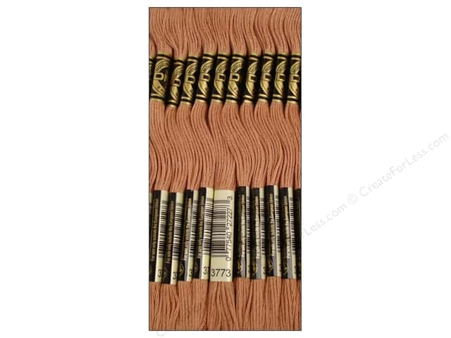 DMC Six-Strand Embroidery Floss #3773 Medium Desert Sand (12 skeins)