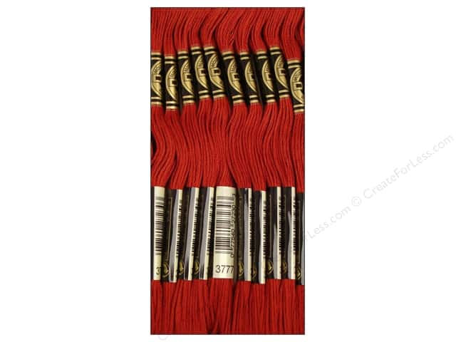 DMC Six-Strand Embroidery Floss #3777 Very Dark Terra Cotta (12 skeins)