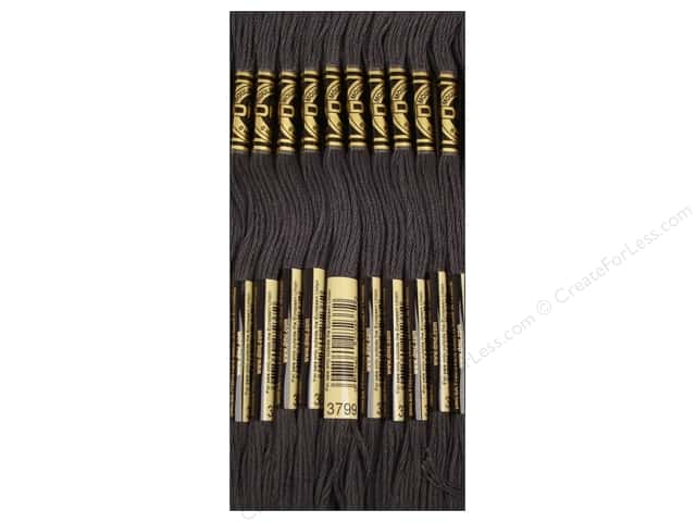 DMC Six-Strand Embroidery Floss #3799 Very Dark Pewter Grey (12 skeins)
