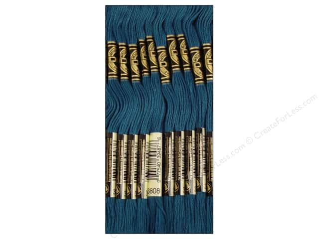 DMC Six-Strand Embroidery Floss #3808 Ultra Very Dark Turquoise (12 skeins)