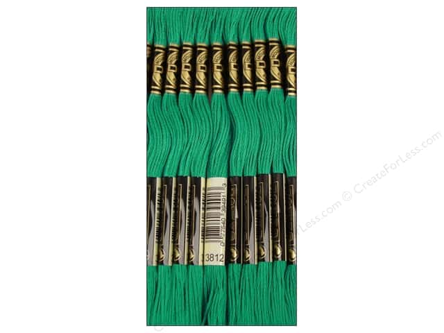 DMC Six-Strand Embroidery Floss #3812 Very Dark Sea Green (12 skeins)