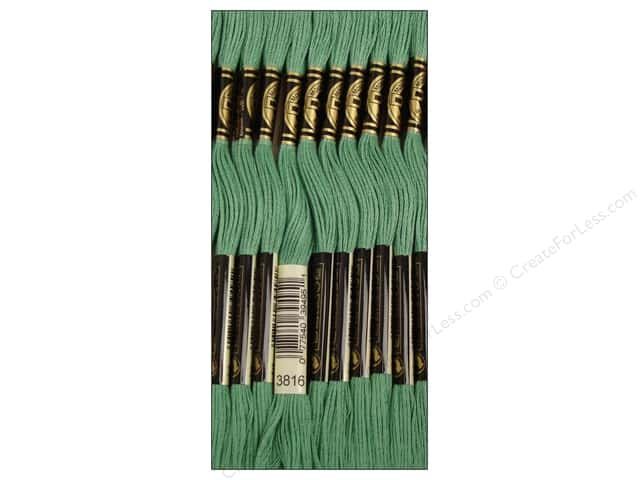 DMC Six-Strand Embroidery Floss #3816 Celadon Green (12 skeins)