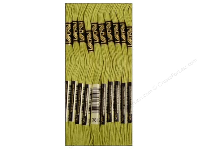 DMC Six-Strand Embroidery Floss #3819 Light Moss Green (12 skeins)