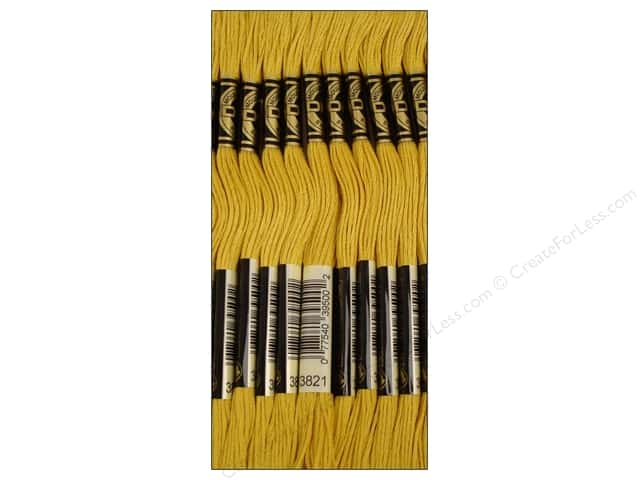 DMC Six-Strand Embroidery Floss #3821 Straw (12 skeins)