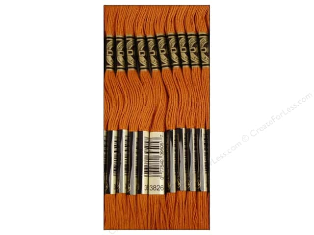 DMC Six-Strand Embroidery Floss #3826 Golden Brown (12 skeins)