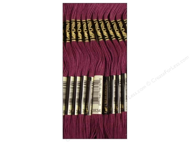 DMC Six-Strand Embroidery Floss #3834 Dark Grape (12 skeins)