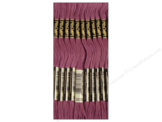 DMC Six-Strand Embroidery Floss #3835 Medium Grape (12 skeins)