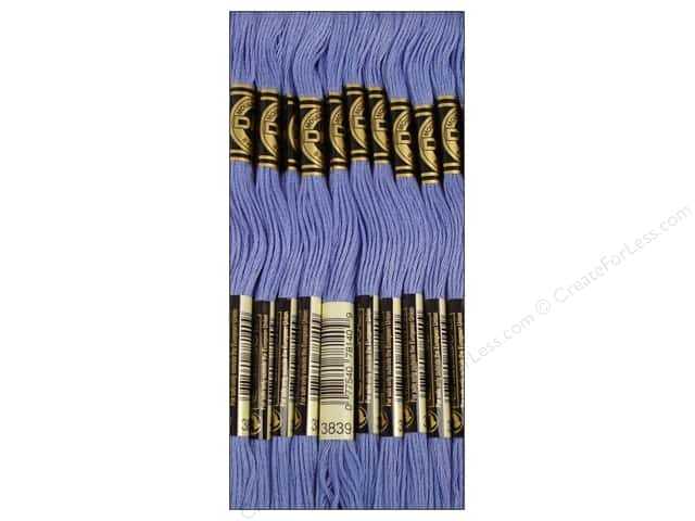 DMC Six-Strand Embroidery Floss #3839 Medium Lavender Blue (12 skeins)