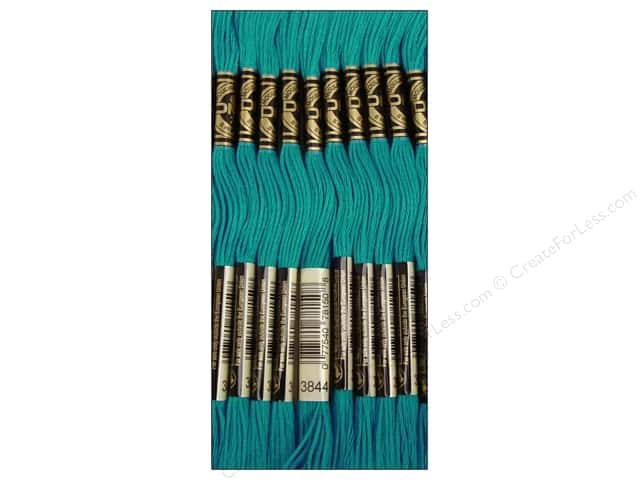 DMC Six-Strand Embroidery Floss #3844 Dark Bright Turquoise (12 skeins)