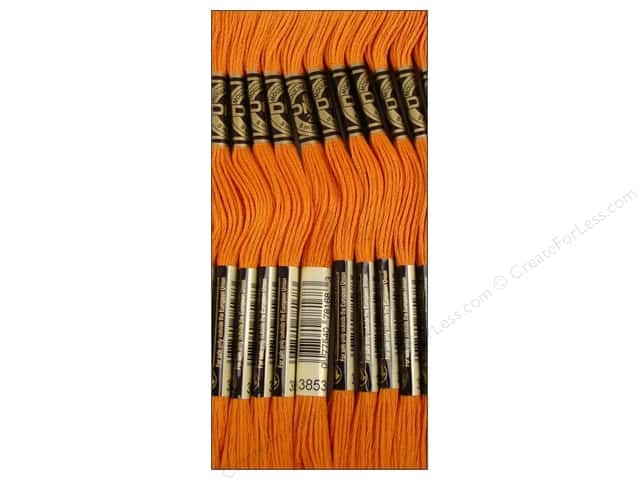 DMC Six-Strand Embroidery Floss #3853 Dark Autumn Gold (12 skeins)