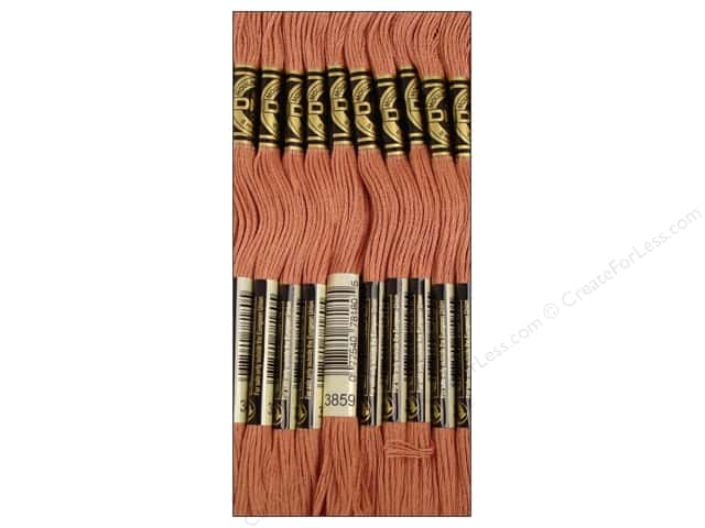 DMC Six-Strand Embroidery Floss #3859 Light Rosewood (12 skeins)