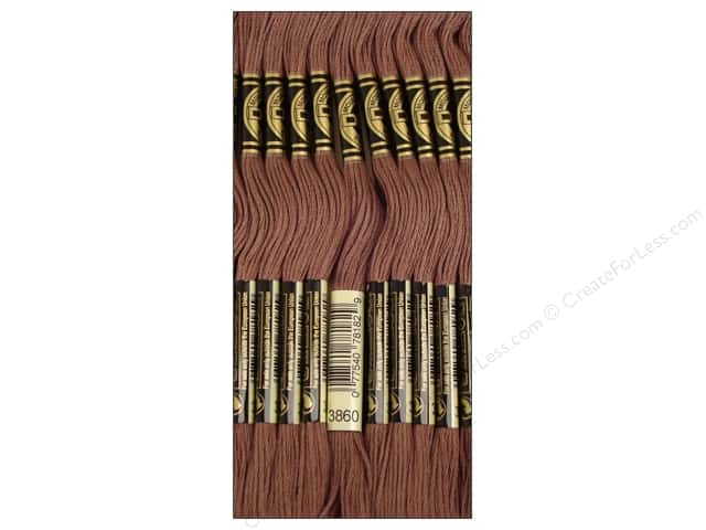 DMC Six-Strand Embroidery Floss #3860 Cocoa (12 skeins)