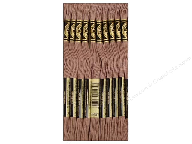 DMC Six-Strand Embroidery Floss #3861 Light Cocoa (12 skeins)