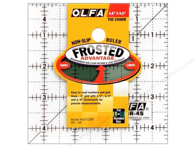 Olfa Frosted Acrylic Ruler 4 1/2 x 4 1/2 in. Square