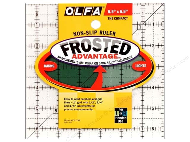 Olfa Frosted Acrylic Ruler 6 1/2 x 6 1/2 in. Square
