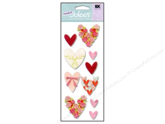 EK A Touch of Jolee's 3D Sticker Loving Hearts