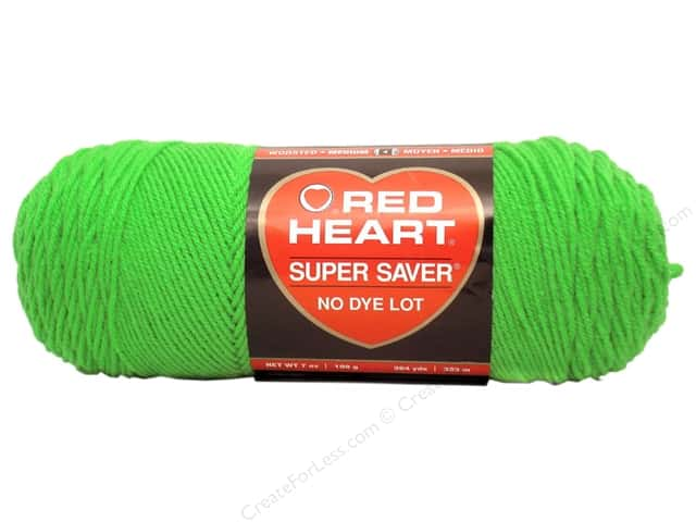 Red Heart Super Saver Yarn 364 yd. #0672 Spring Green
