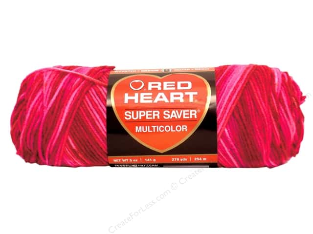 Red Heart Super Saver Yarn #0786 Candy Print 244 yd.