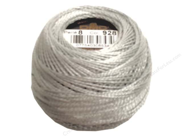 DMC Pearl Cotton Ball Size 8 #928 Very Light Gray Green (10 balls)