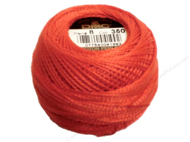 DMC Pearl Cotton Ball Size 8 #350 Medium Coral (10 balls)