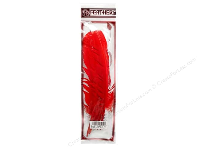 Zucker Feather Turkey Quills 4 pc. Red