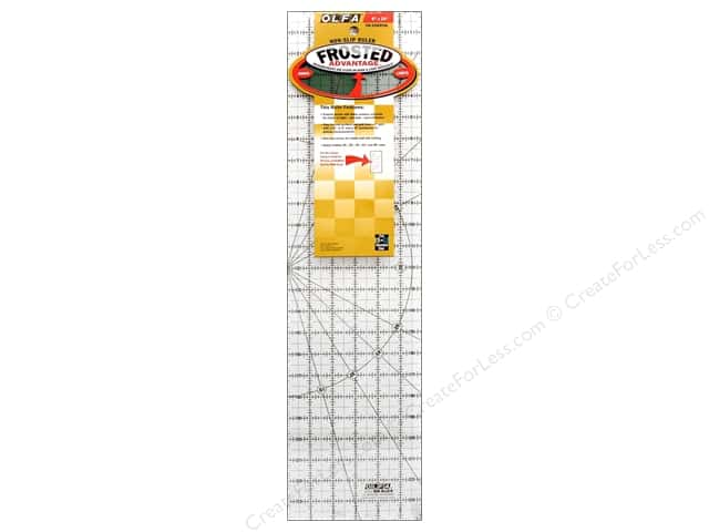 Olfa Frosted Acrylic Ruler 6 x 24 in.