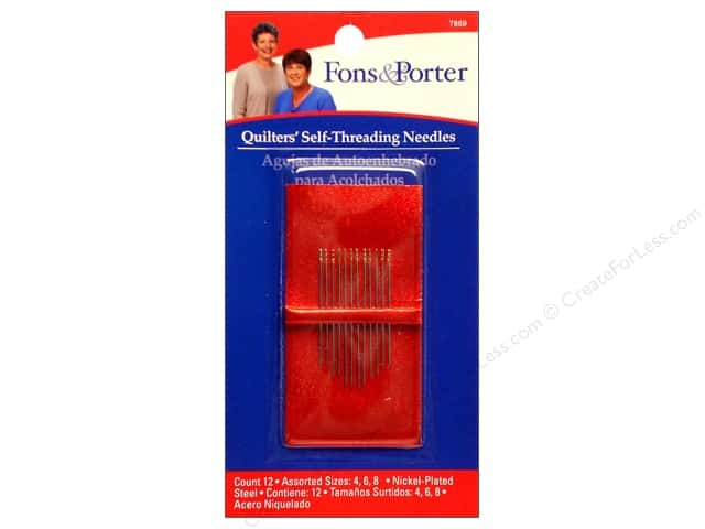 Fons & Porter Quilter's Self Threading Needles 12 pc.