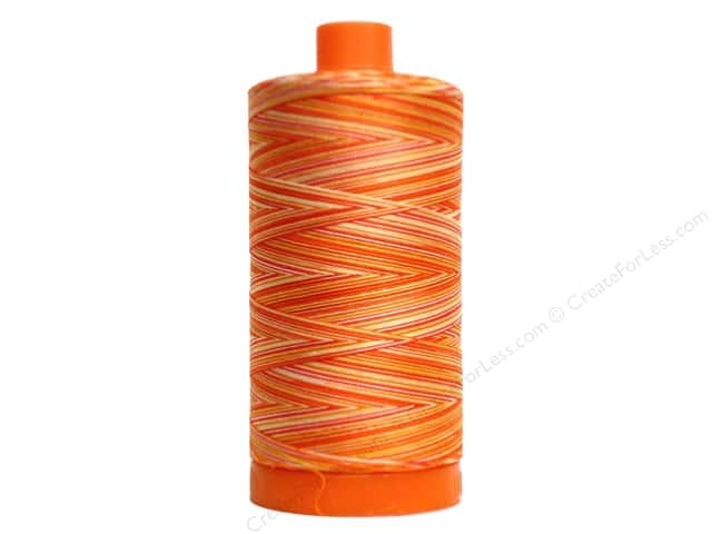 Aurifil Mako Cotton Quilting Thread 50 wt. #4657 Variegated Tramonto a Zoagli 1420 yd.