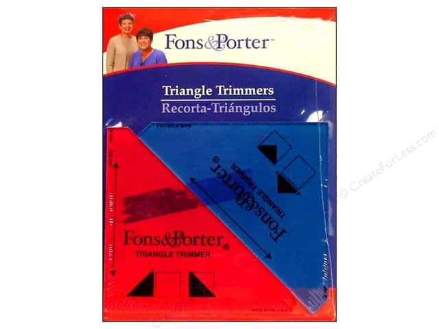 Fons & Porter Notions Ruler Triangle Trimmers 2pc