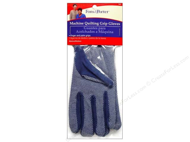 Fons & Porter Machine Quilt Grip Gloves Medium 1pr