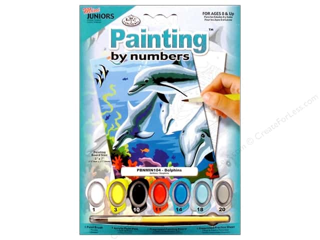 Royal Paint By Number Kit Mini Dolphins