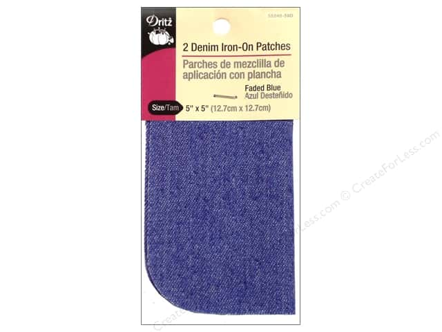 Denim Iron On Patches by Dritz 2 pc. Faded Blue 5 x 5 in.