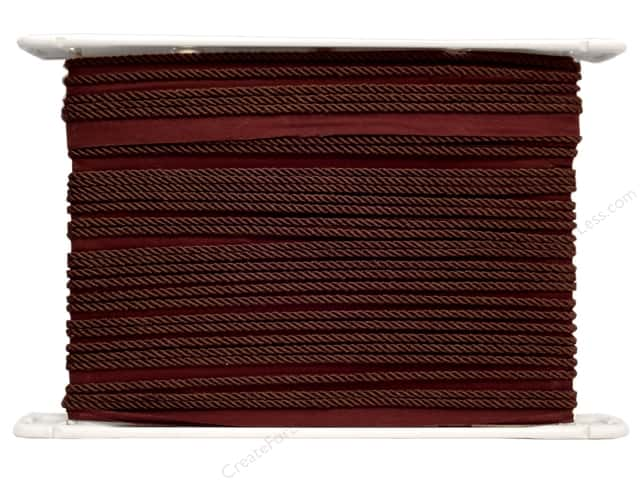 Conso Princess Cord with Lip 3/16 in. x 24 yd. Sable Brown (24 yards)