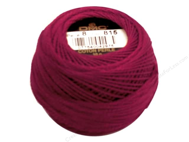 DMC Pearl Cotton Ball Size 8 #815 Medium Garnet (10 balls)