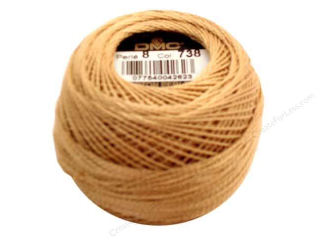 DMC Pearl Cotton Ball Size 8 #738 Very Light Tan (10 balls)