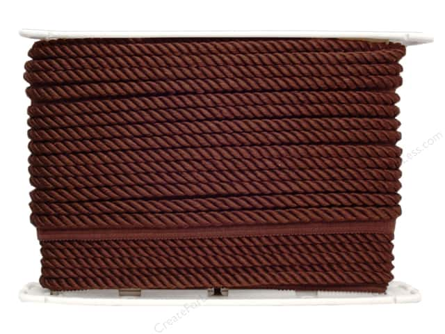 Conso Princess Cord with Lip 3/8 in. Sable Brown (24 yards)