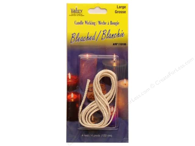Yaley Bleached Candle Wicking 4 ft. Large
