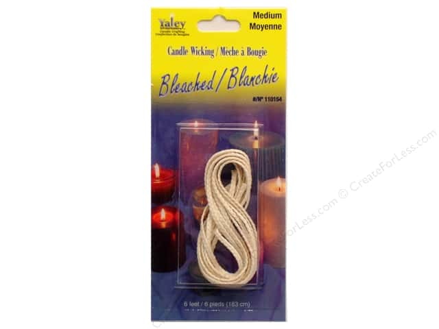 Yaley Bleached Candle Wicking 6 ft. Medium