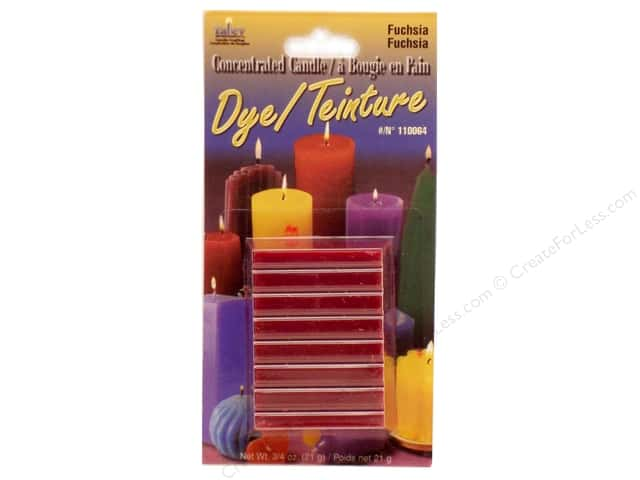 Yaley Candle Dye Block 3/4 oz. Fuchsia