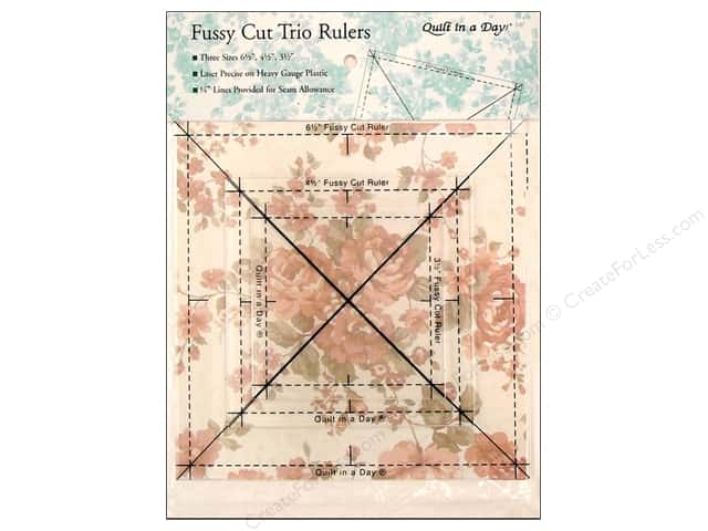 Quilt In A Day Ruler Fussy Cut Trio