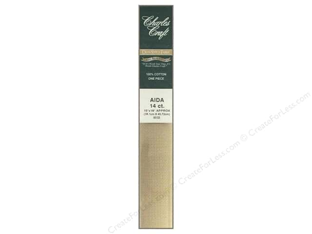 Charles Craft Gold Standard 14-count Aida Cloth 15 x 18 in. Beige