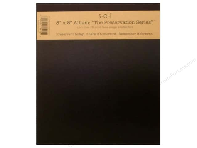 "SEI Albums The Preservation Series"" 8""x 8"" Black"