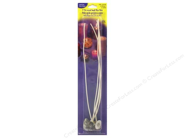"Yaley Wick & Clip Prewaxed Wire Small 9"" 6pc"