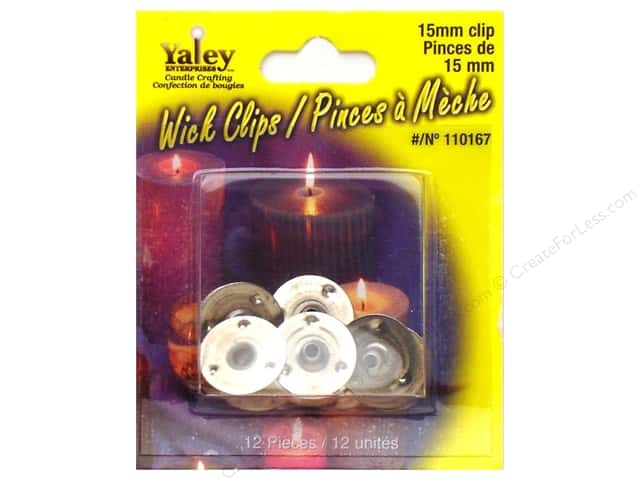 Yaley Candle Wick Clips 12 pc. 15 mm Round
