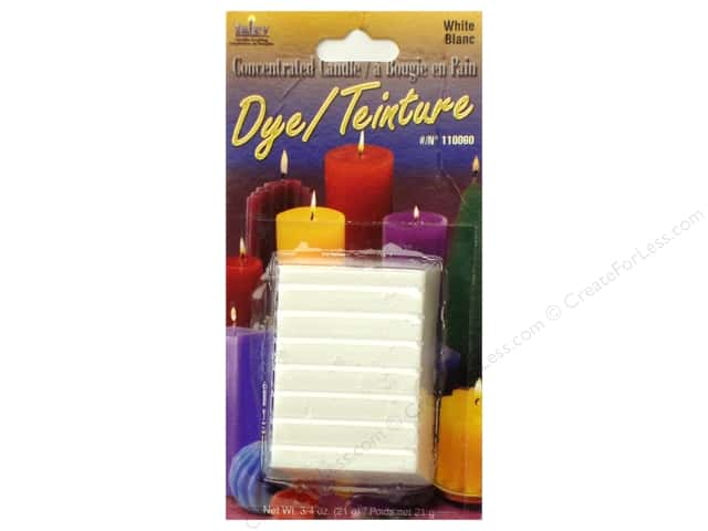 Yaley Candle Dye Block 3/4 oz. White