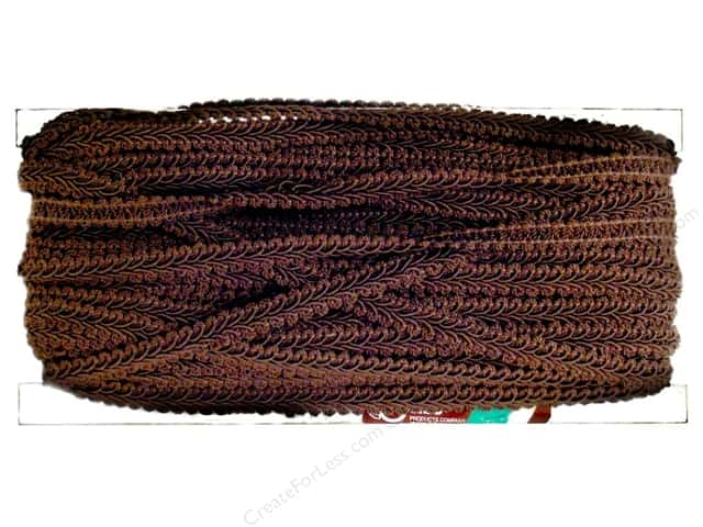 Conso Princess French Gimp Braid Trim 1/2 in. Sable Brown (36 yards)