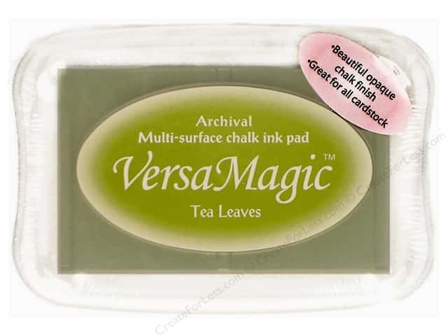 Tsukineko VersaMagic Large Chalk Pigment Ink Stamp Pad Tea Leaves