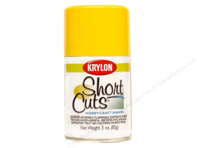 Krylon Shortcuts Aerosol Paints 3 oz. Sun Yellow
