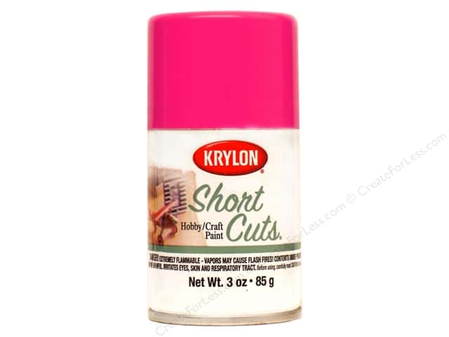 Krylon Shortcuts Aerosol Paints 3 oz. Hot Pink
