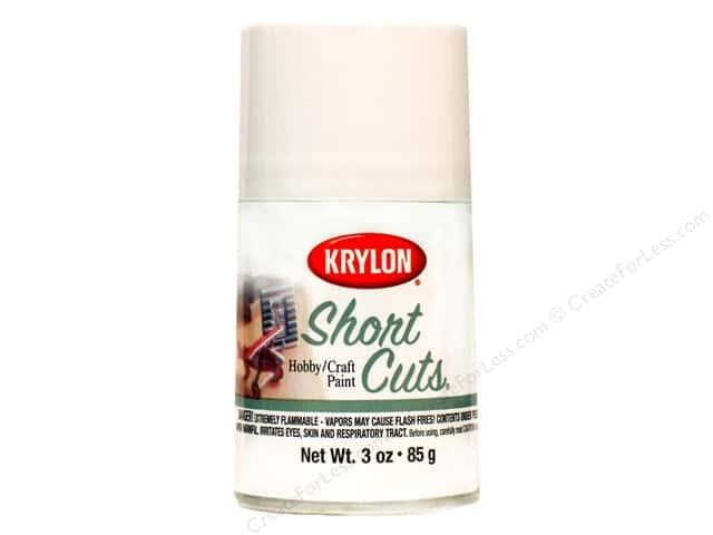 Krylon Shortcuts Aerosol Paints 3 oz. Gloss White